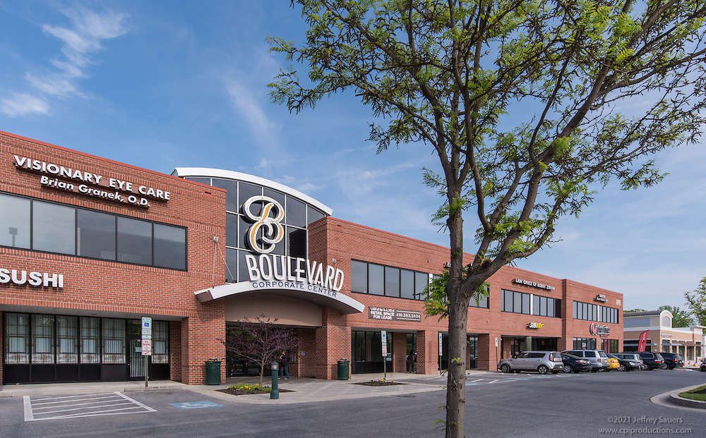 Exterior Image of Boulevard Corporate Center in Ownings Mills Maryland by Jeffrey Sauers of Commercial Photographics, Architectural Photo Artistry in Washington DC, Virginia to Florida and PA to New England