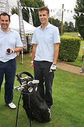 Right, presenter RICHARD BACON at the Mini Masters Golf tournament in aid of LEUKA - London's celebrity golf tournament held at Duke's Meadow Golf Club, Dan Mason Drive, London W4 on 17th July 2009.