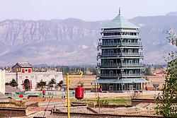 July 20, 2017 - Zhangjiak, Zhangjiak, China - Zhangjiakou, CHINA-July 20 2017: (EDITORIAL USE ONLY. CHINA OUT) The seven-storey glass pagoda is located in Yu County, Zhangjiakou, north China's Hebei Province. (Credit Image: © SIPA Asia via ZUMA Wire)