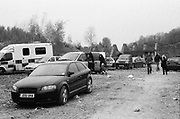 Ravers in car park at Frome Quarry, 2014.