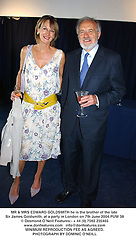 MR & MRS EDWARD GOLDSMITH he is the brother of the late Sir James Goldsmith, at a party in London on 7th June 2004.PUW 38