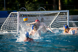 Goal of team VKL Ljubljana Slovan during water polo match between VKL Ljubljana Slovan and AVK Triglav Kranj in 3rd Round of Final of Slovenian Water polo National Championship, on June 16, 2018 in Kodeljevo, Ljubljana, Slovenia. Photo by Urban Urbanc / Sportida