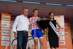 Winanda Spoor (Lensworld Zannata) earns the Noord Brabant jersey at the 103 km Stage 1 of the Boels Ladies Tour 2016 on 30th August 2016 in Tiel, Netherlands. (Photo by Sean Robinson/Velofocus).