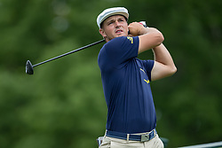 May 30, 2019 - Dublin, OH, U.S. - DUBLIN, OH - MAY 30: Bryson DeChambeau plays his shot from the 18th tee during the Memorial Tournament presented by Nationwide at Muirfield Village Golf Club on May 30, 2018 in Dublin, Ohio. (Photo by Adam Lacy/Icon Sportswire) (Credit Image: © Adam Lacy/Icon SMI via ZUMA Press)