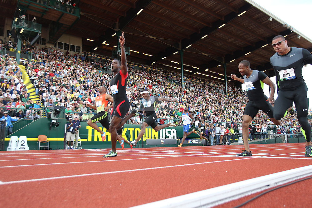 during day 3 of the U.S. Olympic Trials for Track & Field at Hayward Field in Eugene, Oregon, USA 24 Jun 2012..(Jed Jacobsohn/for The New York Times)....