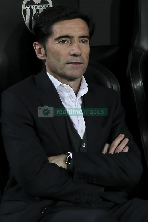 February 28, 2019 - Valencia, Spain - Head coach of Valencia CF Marcelino Garcia Toral.Before  Spanish King La Copa match between  Valencia cf vs Real Betis Balompie Second leg  at Mestalla Stadium on February 28, 2019. (Photo by Jose Miguel Fernandez/NurPhoto) (Credit Image: © Jose Miguel Fernandez/NurPhoto via ZUMA Press)