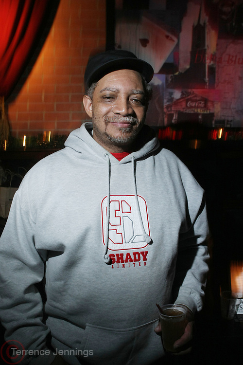 Cool DJ Red Alert at The OkayPlayer Hoiliday Jammy presented by OkayPlayer and Frank Magazine held at BB Kings on December 18, 2008 in New York City..The Legendary Roots Crew gives back to fans with All-Star line-up of Special Guests to celebrate upcoming Holiday Season.