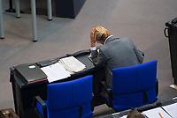 DEU, Deutschland, Germany, Berlin, 04.04.2019: Die Vorsitzende der AfD-Bundestagsfraktion, Alice Weidel, bei einer Plenarsitzung im Deutschen Bundestag.
