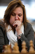 Judit Polgar from Hungary during European Team Chess Championships 2013 at Novotel Hotel in Warsaw on November 12, 2013.<br /> <br /> Poland, Warsaw, November 12, 2013<br /> <br /> Picture also available in RAW (NEF) or TIFF format on special request.<br /> <br /> For editorial use only. Any commercial or promotional use requires permission.<br /> <br /> Mandatory credit:<br /> Photo by © Adam Nurkiewicz / Mediasport