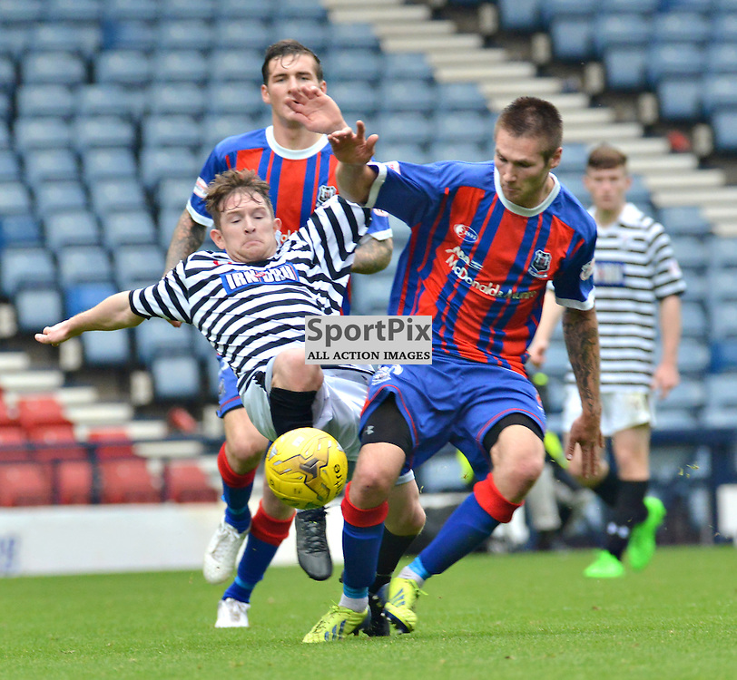 Small Victory - Brian Cameron wins the midfield battle at Hampden as his team loses out in the Petrofac Cup......(c) BILLY WHITE | SportPix.org.uk