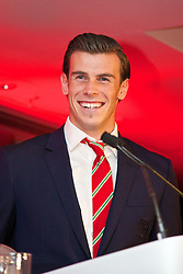 CARDIFF, WALES - Monday, October 6, 2014: Wales' Player of the Year 2014 Gareth Bale at the FAW Footballer of the Year Awards 2014 held at the St. David's Hotel. (Pic by David Rawcliffe/Propaganda)