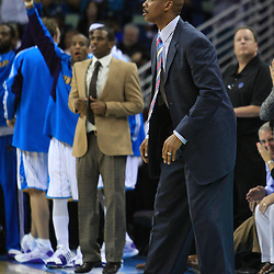 06 February 2009: New Orleans Hornets coach Byron Scott instructs his team from the bench during a 101-92 win by the New Orleans Hornets over the Toronto Raptors at the New Orleans Arena in New Orleans, LA.