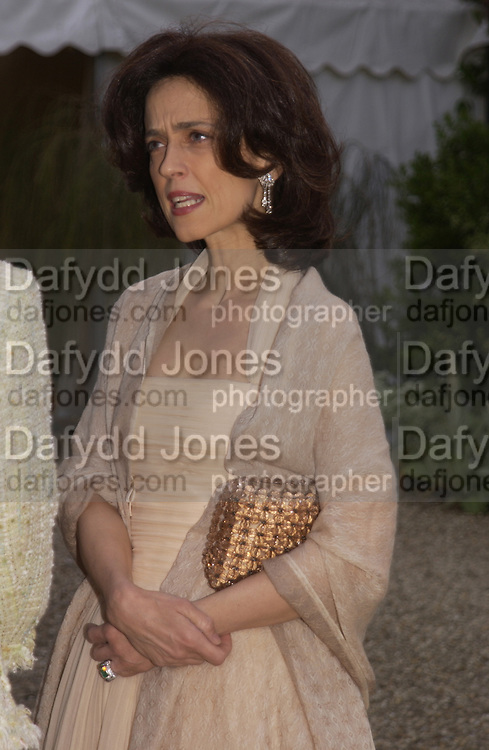 Princess Cristina Pignatelli, Cartier Flower show dinner, Chelsea Physic garden, 24 May 2004. ONE TIME USE ONLY - DO NOT ARCHIVE  © Copyright Photograph by Dafydd Jones 66 Stockwell Park Rd. London SW9 0DA Tel 020 7733 0108 www.dafjones.com
