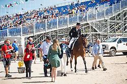 Rothenberger Soneke, GER, Cosmo 59<br /> Tryon - FEI World Equestrian Games™ 2018<br /> Backgroundbilder vom Abreiteplatz<br /> Grand Prix de Dressage Teamwertung und Einzelqualifikation<br /> 13. September 2018<br /> © www.sportfotos-lafrentz.de/Sharon Vandeput