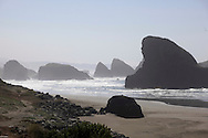 Highway 101 that runs along the Oregon Coast.  Cape Sebastian area. Photo by Dennis Brack...