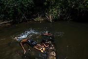 Xerente tribesmen  in the village of Tocantinia, Brazil, Friday, 05, 2015. (Hilaea Media/ Dado Galdieri)