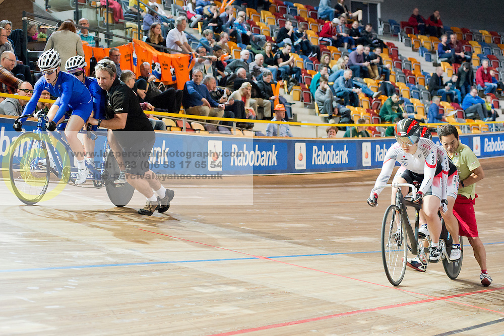 , GRE, JPN, Sprint FInals, 2015 UCI Para-Cycling Track World Championships, Apeldoorn, Netherlands