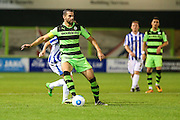 Forest Green Rovers Aarran Racine (21) during the Gloucestershire Senior Cup match between Forest Green Rovers and Cheltenham Town at the New Lawn, Forest Green, United Kingdom on 20 September 2016. Photo by Shane Healey.