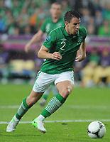 Fotball<br /> 10.06.2012<br /> EM 2012<br /> Irland v Kroatia<br /> Foto: Witters/Digitalsport<br /> NORWAY ONLY<br /> <br /> Sean St Ledger (Irland)<br /> Fussball EURO 2012, Vorrunde, Gruppe C, Irland - Kroatien 1:3
