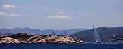 Meteor sailing in the Loro Piana Superyacht Regatta.