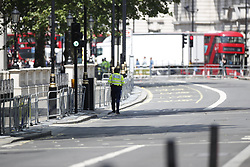 © Licensed to London News Pictures. 23/05/2019. London, UK. Whitehall is closed due due to an ongoing security scare. Photo credit: Peter Macdiarmid/LNP