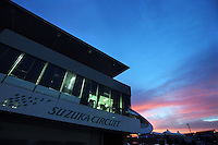 The sun sets over the circuit.<br /> Japanese Grand Prix, Saturday 4th October 2014. Suzuka, Japan.