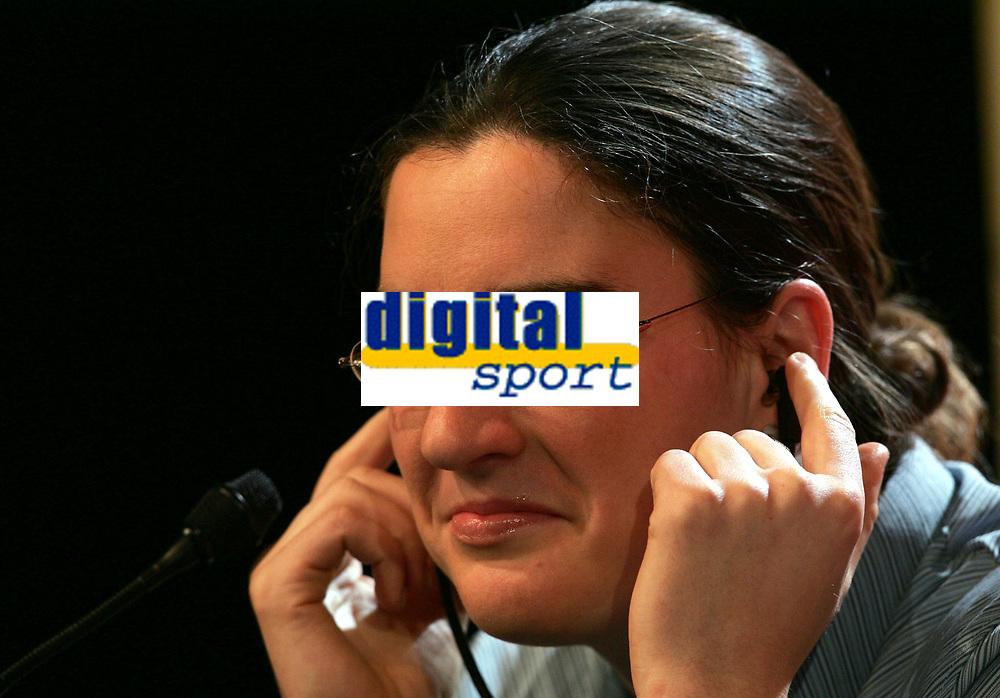 Birgit Prinz bei der Pressekonferenz. © Valeriano Di Domenico/EQ Images