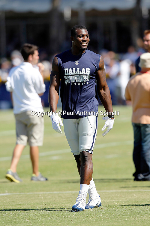 Dallas Cowboys rookie wide receiver Dez Bryant (88) smiles during NFL football training camp on Wednesday, August 18, 2010 in Oxnard, California. (©Paul Anthony Spinelli)