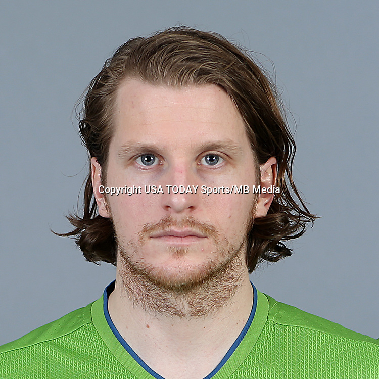 Feb 25, 2016; USA; Seattle Sounders FC player Erik Friberg poses for a photo. Mandatory Credit: Corky Trewin-USA TODAY Sports