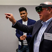 World Trade Center, Seattle Immersed: The Business of XR. Microsoft HoloLens and Windows Mixed Reality. Photo by Alabastro Photography.