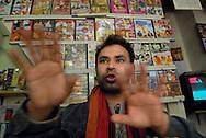 Roma (Italy), 22/04/2006: AL-IQBAL videoteca e phone center gestito da Faruk dal Bangladesh. ©Andrea Sabbadini