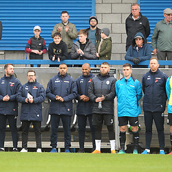 TELFORD COPYRIGHT MIKE SHERIDAN Telford's coaching staff applaud at the end of a Remembrance Day tribute during the Vanarama National League Conference North fixture between AFC Telford United and Boston on Saturday, November 2, 2019.<br /> <br /> Picture credit: Mike Sheridan/Ultrapress<br /> <br /> MS201920-028