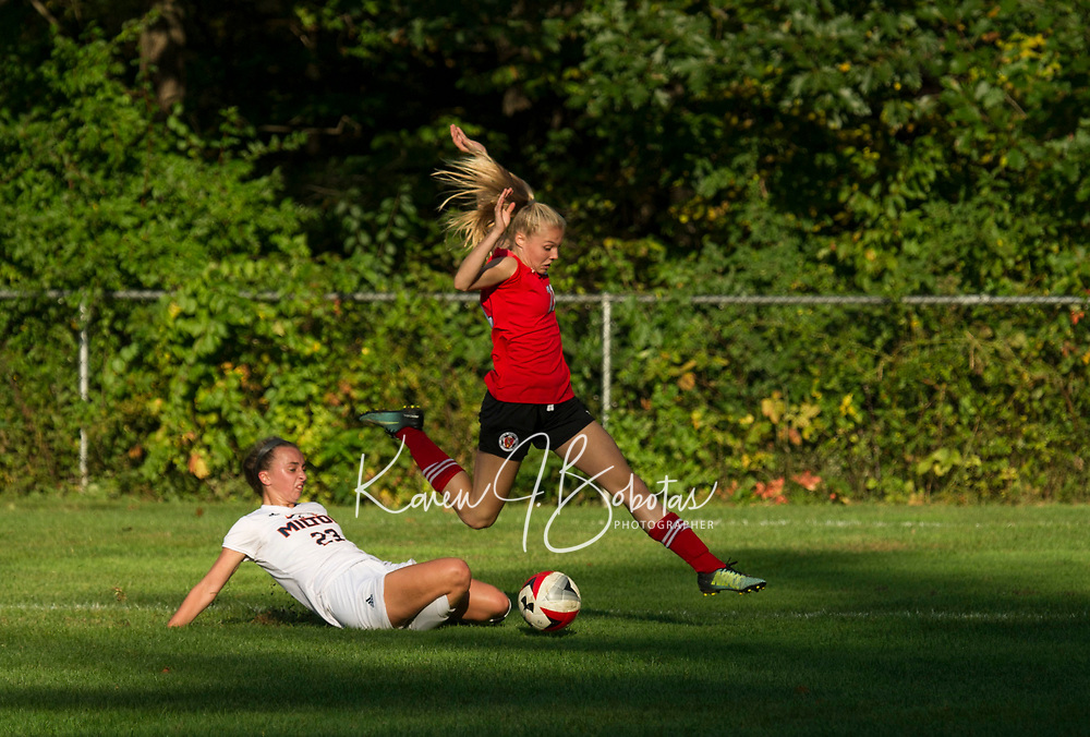 St Paul's School girls varsity soccer.  ©2018 Karen Bobotas Photographer