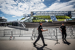 Police inf front of Arena prior to the 2017 IIHF Men's World Championship group B Ice hockey match between National Teams of Canada and Norway, on May 15, 2017 in AccorHotels Arena in Paris, France. Photo by Vid Ponikvar / Sportida