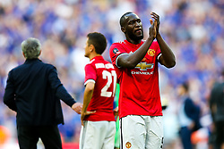 Romelu Lukaku of Manchester United thanks the fans after Chelsea win 1-0 to win the FA Cup - Rogan/JMP - 19/05/2018 - FOOTBALL - Wembley Stadium - London, England - Chelsea v Manchester United - FA Cup Final.