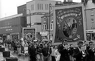 Kellingley Colliery, Stillingfleet and Gascoigne Wood Branch banners. 1991 Yorkshire Miners Gala. Doncaster.