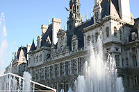 Fountains at Place de L'Hotel de Ville, Paris, France<br />