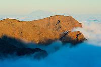 Sea clouds in  La Caldera de Taburiente National Park, La Palma Island, Canary Islands Spain.