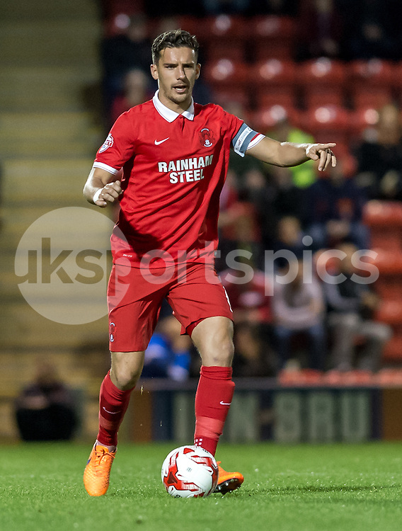 Mathieu Baudry of Leyton Orient during the Sky Bet League 2 match between Leyton Orient and Carlisle United at the Matchroom Stadium, London, England on 29 September 2015. Photo by Vince  Mignott.