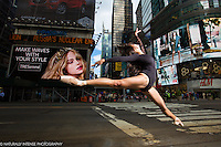 Times Square New York City Ballerina on 42nd Street featuring Sabrina Imamura. Dance As Art The New York Photography Project
