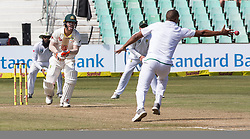 Durban. 030318. David Warner of Australia during day 3 of the 1st Sunfoil Test match between South Africa and Australia at Sahara Stadium Kingsmead on March 03, 2018 in Durban, South Africa.