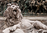 Milan, Italy. Lion Statue at the Garibaldi monument.