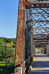 Steel girder bridge over Cheyenne River on SD79F.