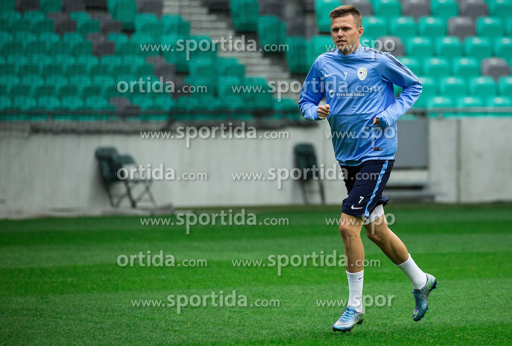 Josip Ilicic during practice session of Slovenian National Football team two days before Euro 2016 Qualifying game between Slovenia and Lithuania, on October 7, 2015 in SRC Stozice, Ljubljana Slovenia. Photo by Vid Ponikvar / Sportida