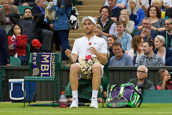 LONDON, ENGLAND - Wednesday, June 29, 2016: Adrian Mandarin (FRA) during the Gentlemen's Single 2nd Round match on day three of the Wimbledon Lawn Tennis Championships at the All England Lawn Tennis and Croquet Club. (Pic by Kirsten Holst/Propaganda)