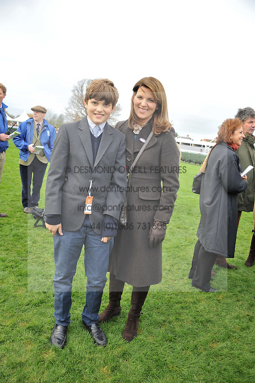 CHICA HERBERT and her son WILL HERBERT at the Hennessy Gold Cup at Newbury Racecourse, Berkshire on 26th November 2011.