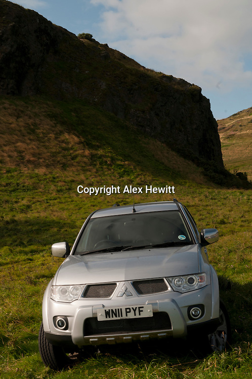 Mitsubishi Barbarian Pick-Up 2011 for Scotsman Motoring.photographed in Holyrood Park in Edinburgh.13/09/2011..Alex Hewitt.07789 871 540.alex.hewitt @ gmail.com..
