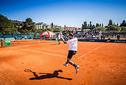 Anil Yuksel and Cem Ilkel of Turkey, Aljaz Bedene and Tom Kocevar Desman of Slovenia playing doubles during Davis Cup 2018 Europe/Africa zone Group II between Slovenia and Turkey, on April 8, 2018 in Portoroz / Portorose, Slovenia. Photo by Vid Ponikvar / Sportida