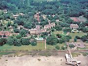 Aerial view of  Jekyll Island Club on Jekyll Island, GA.