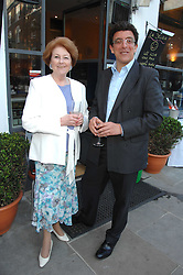 LADY ELIZABETH ANSON and VISCOUNT HAWKESBURY at the launch of The Rupert Lund Showroom, 61 Chelsea Manor Street, London SW3 on 2nd May 2007.<br />